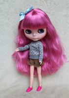 Free Shipping hot sale TB-R77 Nude Blythe doll lovely DIY toy birthday gift for girls fashion 4  big eyes dolls beautiful Hair