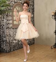 Free ship 2014 new special bridesmaid dressskirt short dress toast clothing Korean costumes