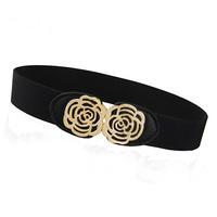 New women's rose dress elasticed waist belt