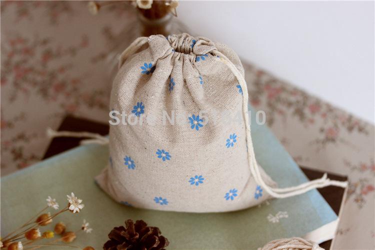 tamanho personalizado flor roupa de impressão cordão saco bolsa reutilizáveis eco- amigável viagem bolsa de armazenamento zakka drawstring(China (Mainland))