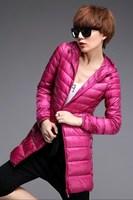 New 2014 Women Down Jacket Light Slim Hoodies Coat Women Winter Jacket Keep Warm Parkas Free Shipping A868