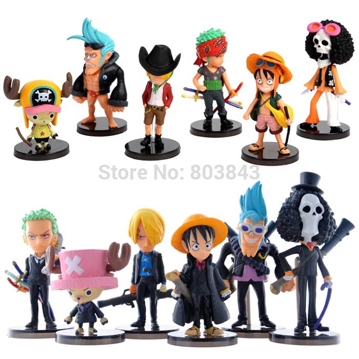 NEW PVC Classic Anime Q Version ONE PIECE Action Figure Zoro, Chopper, Luffy Boy Toy Gift 12pcs full set(China (Mainland))