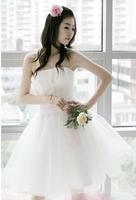 Free Shipping 2014 Short toast the bride wedding dress Short dress