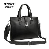 Fashion Men's 100% Genuine Leather Briefcase Men Business Travel Bags Big Messenger Bag Handbag High Quality 2014 Free Shipping