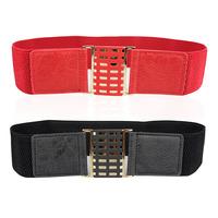 New Hang buckle joker square lattice Han edition style Ms female belt  wholesale