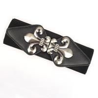 New  Ms multicolor  Spandex elastic pattern waist  belt
