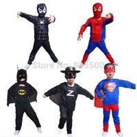 In stock Stage clothing Zorro Halloween Batman Children's performance clothing cosplay Spiderman Batman suit superman costume