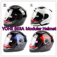 2014 New Free Shipping Yohe Yh-863a Helmets Motorcycle Open Face Modular Helmet Best Half Helmet Dot Standard
