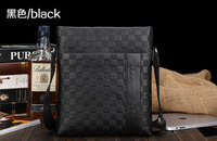 Classic Quality Genuine Leather Plaid Polo Men Messenger Bags New 2014 Spring -Summer, desigual Business Casual Ipad Holder