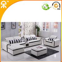 (1 seat+2 seat +lounge +ottoma+tea table /lot)2014 customized L shape home sofa #CE-A608