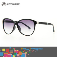 AEVOUGE with Original case brand Cat Eye Classical brand Sunglass women Good quality sun glasses Leatherette decoration AE0149