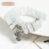 All-match fashion women necklace lucky evil eye crystal transhipped knot bracelet summer popular bracelets female gift