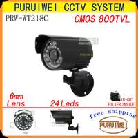 "1/4""CMOS 800TVL IR-CUT Filter CCTV Outdoor Security Camera Weatherproof Day Night Vision Surveillance with bracket.free shipping"