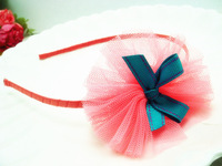 White gauze F268 new hair hoop bowknot children accessories  baby princess Alice head band