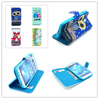 New Arrival Cute Bbay Cartoon Owl Magnetic PU Leather Wallet Stand Magnetic Flip Case Soft TPU Cover For Samsung Galaxy S4 I9500