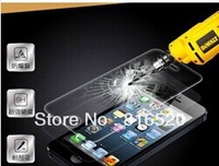 500pcs Retail Package 0.4 MM 2.5D Surface Hardness 8-9H Premium Real Tempered Glass Film Screen Protector for iPhone 5 5G 5S 5C
