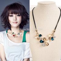 Romantic fashion women necklace flower cat-eye decoration summer necklace accessories popular jewelry short design necklace