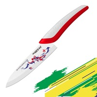 Free shipping ceramic knife with football theme decal kitchen knives 6 inch chef knife fashionable kitchen accessories