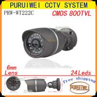 "100% Original 1/4"" CMOS 800TVL 24led IR Day/night outdoor/indoor waterproof CCTV Camera with bracket.free shipping"