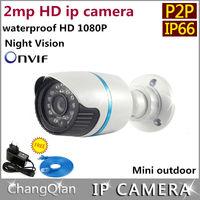 Hongwei ip camera 1080p cctv  P2P onvif  HD 2mp  Megapixels  Outdoor and  Indoor  Night Vision IR-CUT IP66  Waterproof  Security