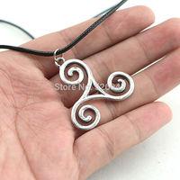 Hotsale movie Jewelry,Teen Wolf Triskele Necklace Triskelion necklace Allison Argent necklace