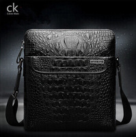 Wholesale price 2014 new male package business casual crocodile leather shoulder bag Messenger bag briefcase