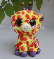 "IN HAND!  NEW 2014 TY BEANIES BOOS Justice ORIGINAL PLUSH  ~Darci the Orange Giraffe~ 6"" 15CM plush big eyes doll Stuffed TOY"
