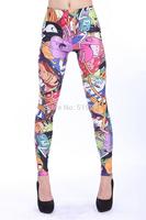 Cute Pattern Leggings American Cartoon Printed Pencil Pants High Waist For 2014 Fashion Girls Ladies DK286