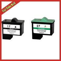 2 XCombo Pack Ink Cartridge for Lexmark 17 27 Z25 Z33 Z35 Z515 Z601 Z605 Z611