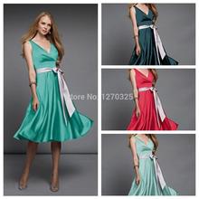 cheap red bridesmaid dress