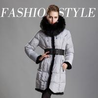 2014 Women's new women's winter jacket luxury quality big fox mink tide Slim