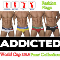 NEW ADDICTED SEXY MEN UNDERWEAR SIZE L M S HOT! Briefs Gay/Guy COTTON  FASHION FLAG UNDERWEAR BRIEFS