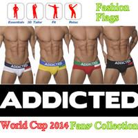 NEW ADDICTED SEXY MEN UNDERWEAR SIZE L M S HOT! Briefs Gay/Guy COTTON  FASHION FLAG UNDERWEAR BRIEFS