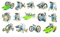 Free Shipping 1Set 14-in-1 Solar Robot Kit / 14 in 1 Solar DIY Robot Toy