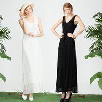 New Europe standard luxury lace dress slim long dress