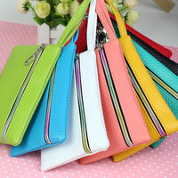 Neew! Fashion Pu Leather Coin Purse Women Wallet Daily Storage Change Purse Plaid Clutch for iPhone Galaxy Ladies Handbag