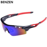 2014 Men Polarized Sunglasses Sports Sun Glasses Cycling goggles  Shades UV 400 Eyewear Oculos De sol  Gafas With Case Black