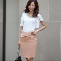 2014 Amoi ladies slim OL short career step a-line skirt base Pack hip skirt