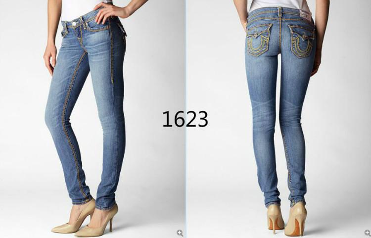 Free Shipping! Wholesale Brand Name Skinny Denim Jeans Women Classic Designer Big U Logo Women's Jeans 189-1623(China (Mainland))