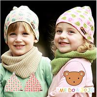 Child baby 100% cotton hat masks colorful bear christmas set pocket masks child hat 1219 set