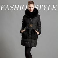 2014 Women's new burst models oversized fox fur pockets of fat mm female genuine clearance
