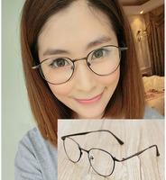 Wholesale Retail Fashion Metal Thin Women Eyeglasses frames New Ladies Plain Mirror Eyewear Glasses free shipping