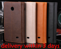 Top grade luxury fashion best leather Stand cover for Nokia Normandy X A110 For Nokia X Wallet Card cases Wholesale factory