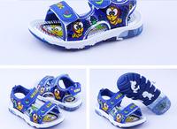 C01 2014 New Cartoon Children Girls Casual Sandals Boys Kids Flashing Lights Summer Beach Shoes
