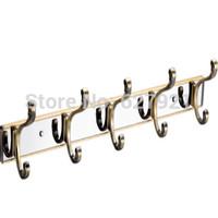 Antique brass mirror alloy row hook kitchen single hangers wall clothes coat hooks door hook