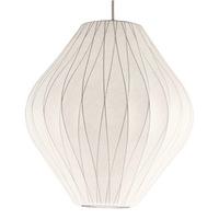 Nelson Crisscross Pear Pendant Lamp Vintage Silk Pendant lights Modern Dining room Lighting Free shipping PL209-6