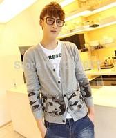 2014 NEW Autumn Winter BEST Hotsale!Plus Size 3XL 4XL 5XL 6XL Camouflage Men Sweaters Men's Fashion Casual Cardigan Sweaters