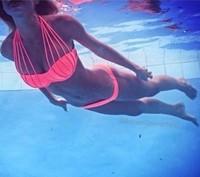 2014 Promotions!! Bandage Bikini Set Swimsuit For Women Sexy Swimwear Monokini Female  Bathing Suit 1453B