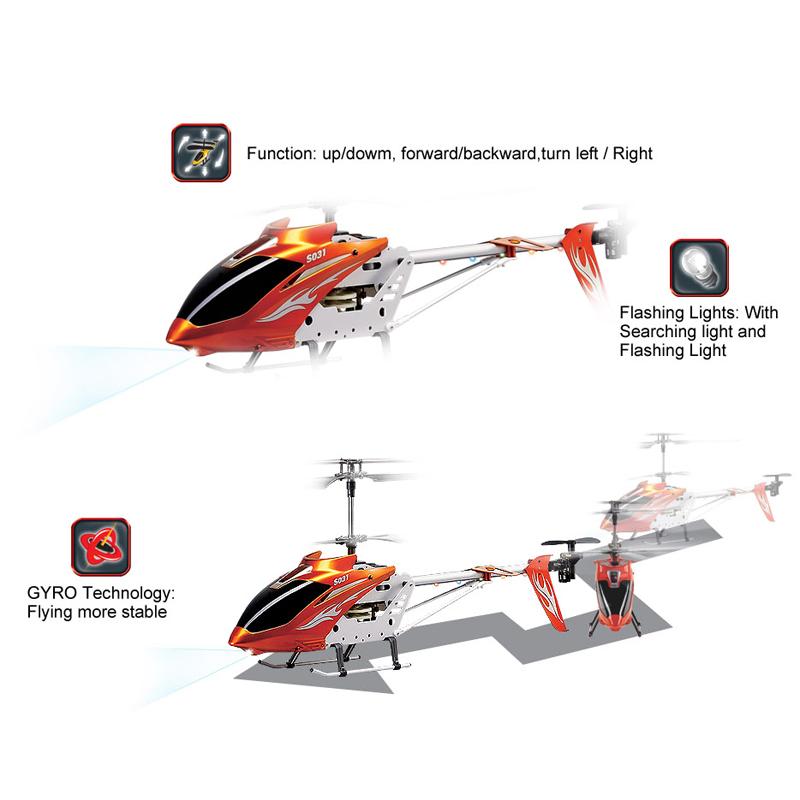 ACOSUN 24 inch BIG Syma S031G 3.5CH Radio Remote Control RC Helicopter with Gyro UK Plug(China (Mainland))