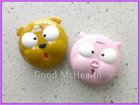 -=< Retail >=- 2014 NEW Design Stupid Pig & Bear Contact Lens Case with Soaking Case Mirror